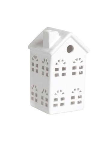 """Trendy Kitchen by EXCÉLSA Theelichthouder """"Little Home"""" wit - (B)7,5 x (H)14,5 x (D)7,5 cm"""