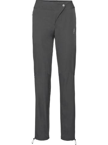 """Odlo Spodnie funkcyjne """"Fli"""" w kolorze ciemnoszarym"""