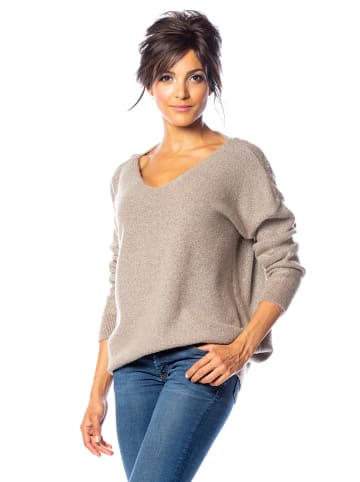 "Saint Germain Paris Pullover ""Alexia"" in Taupe"