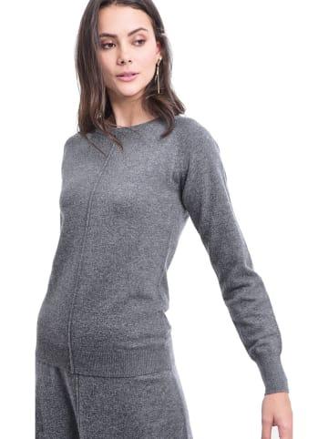 ASSUILI Sweter w kolorze ciemnoszarym