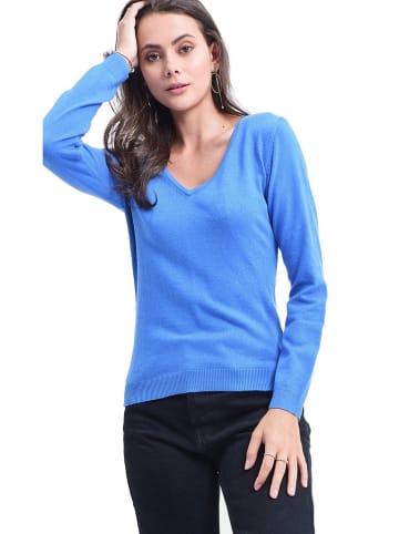 ASSUILI Sweter w kolorze niebieskim