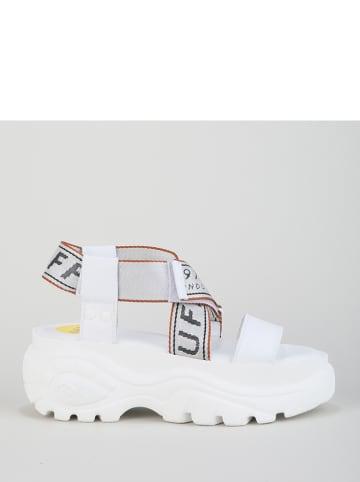 Buffalo Skórzane sandały w kolorze białym