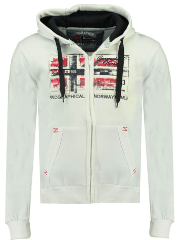 """Geographical Norway Sweatvest """"Ginam"""" wit"""