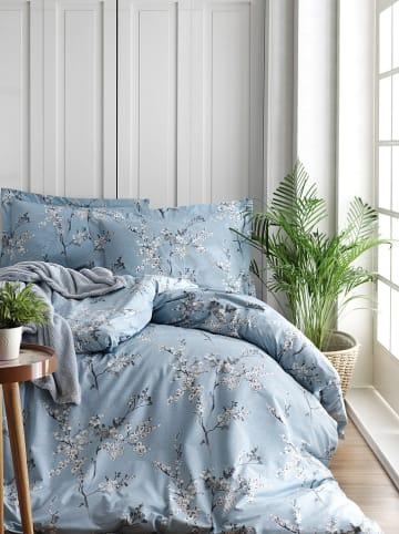 "Colourful Cotton Renforcé beddengoedset ""Chicory"" blauw"