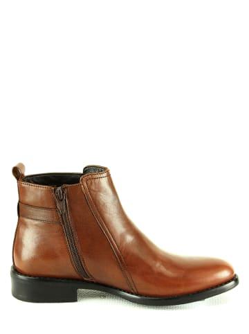 """Manoukian shoes Skórzane botki """"Anais"""" w kolorze brązowym"""