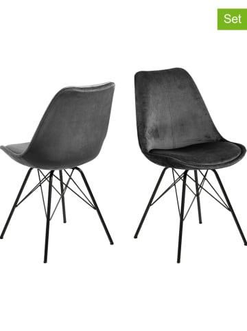 """AC Design 2-delige set: eetkamerstoelen """"Eris"""" antraciet - (B)48,5 x (H)85,5 x (D)54 cm"""