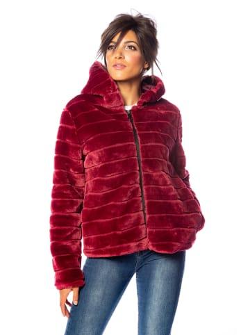 """100% Coats Płaszcz """"Ambre"""" w kolorze bordowym"""