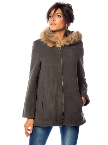 "100% Coats Mantel ""Ashley"" in Dunkelgrau"
