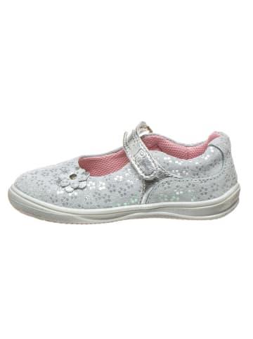 Richter Shoes Leder-Spangenballerinas in Silber