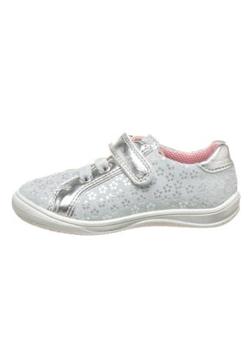 Richter Shoes Leren sneakers zilverkleurig