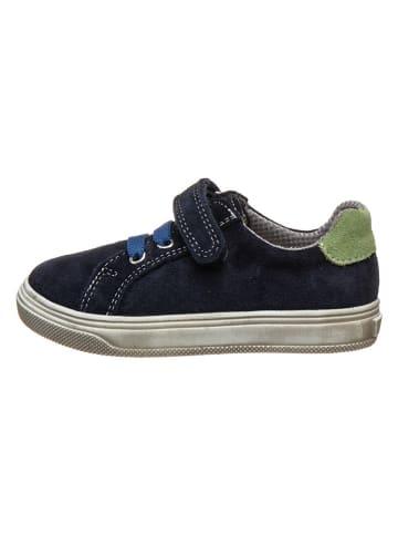 Richter Shoes Leren sneakers donkerblauw/groen