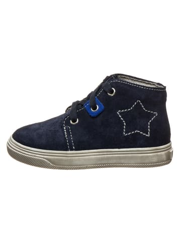 Richter Shoes Leren sneakers donkerblauw