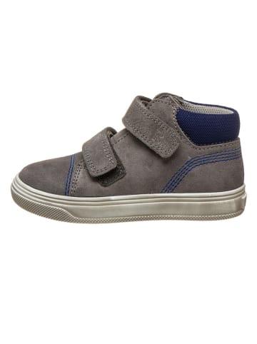 Richter Shoes Skórzane sneakersy w kolorze granatowo-szarym
