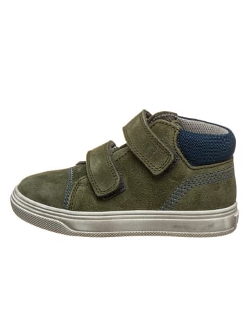 Richter Shoes Leren sneakers kaki/donkerblauw