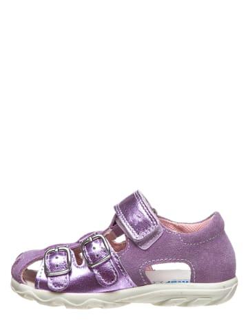 Richter Shoes Leren enkelsandalen paars