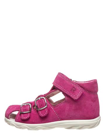 Richter Shoes Leder-Halbsandalen in Pink