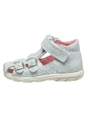 Richter Shoes Leren enkelsandalen lichtgrijs