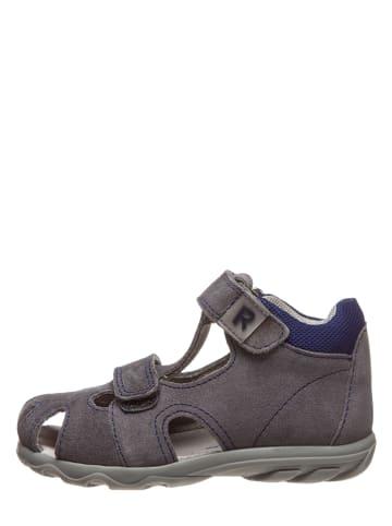 Richter Shoes Leren enkelsandalen grijs