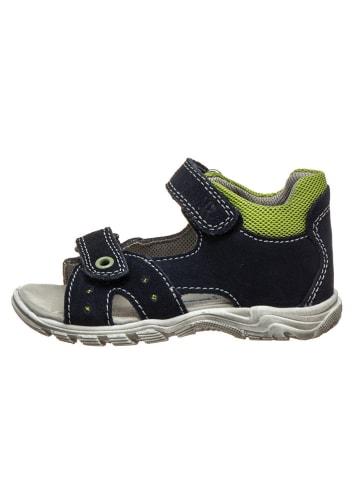 Richter Shoes Skórzane sandały w kolorze granatowym