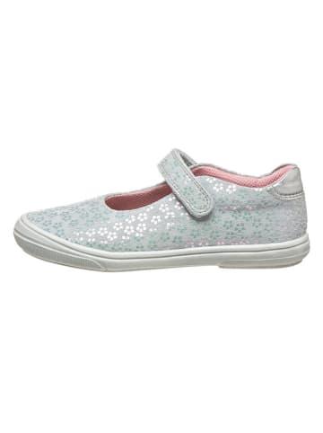 Richter Shoes Leren ballerina's met bandje zilverkleurig