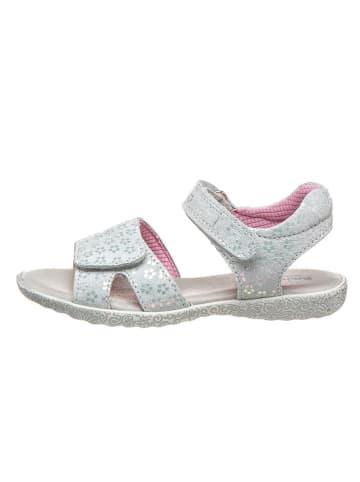 Richter Shoes Skórzane sandały w kolorze jasnoszarym