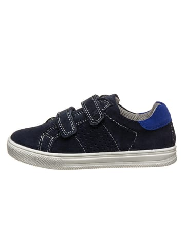 Richter Shoes Leder-Sneakers in Dunkelblau