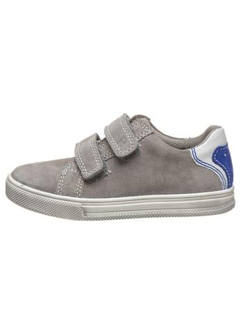 Richter Shoes Leren sneakers grijs/wit