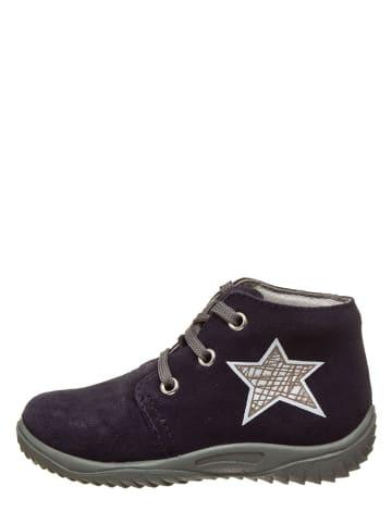 Richter Shoes Leren loopleerschoenen donkerblauw