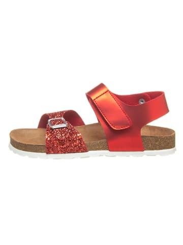 Richter Shoes Sandały w kolorze czerwonym