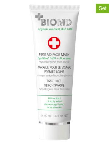 """BIOMED Maseczki (2 szt.) """"First Aid"""" do twarzy - 2 x 40 ml"""