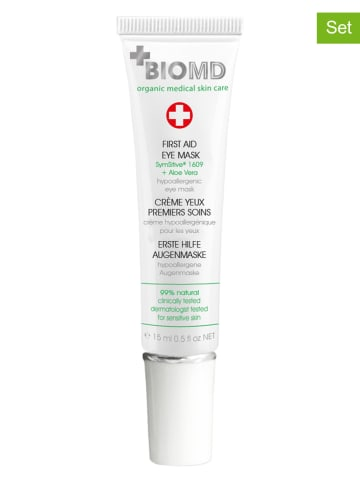 """BIOMED Maseczki (2 szt.) """"First Aid"""" pod oczy - 2 x 15 ml"""