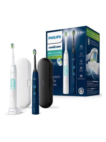 """Philips Sonische tandenborstel-doublepack """"ProtectiveClean"""" wit/zwart"""