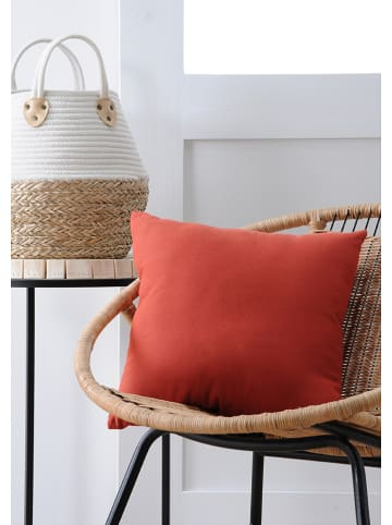 """STOF France Kussen """"Duo"""" roestrood - (L)40 x (B)40 cm"""