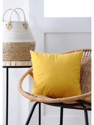 """STOF France Poduszka """"Duo"""" w kolorze żółtym - 40 x 40 cm"""