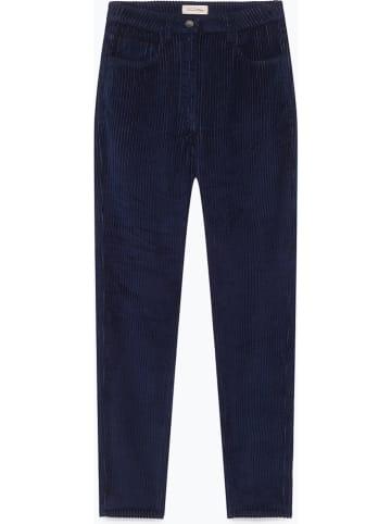 """American Vintage Spodnie sztruksowe """"Ibizoo"""" w kolorze granatowym"""