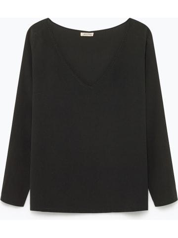 """American Vintage Jedwabna bluzka """"Overland"""" w kolorze ciemnoszarym"""