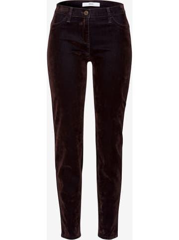 """BRAX Spodnie """"Spice"""" - Skinny fit - w kolorze ciemnobrązowym"""