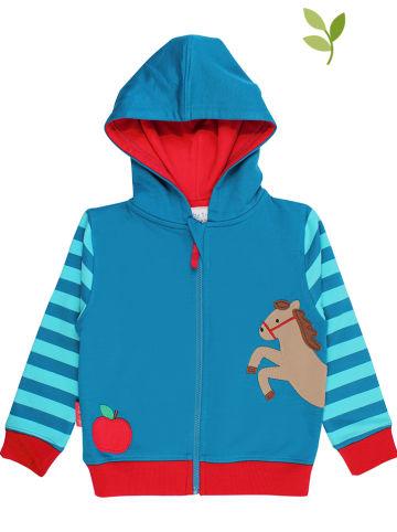 Toby Tiger Bluza w kolorze morsko-czerwonym