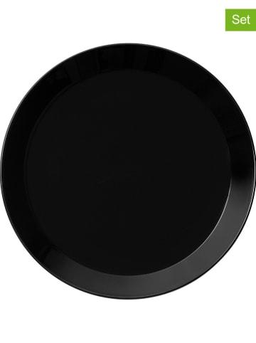 """Iittala 6-delige set: bijgerechtborden """"Teema"""" zwart - Ø 17 cm"""