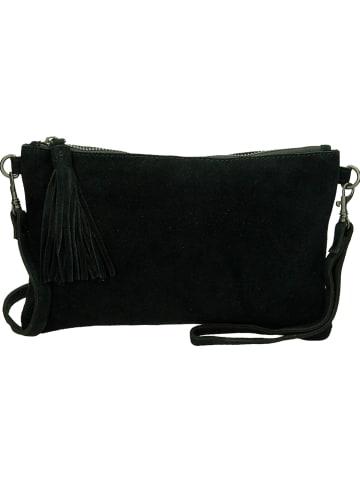 Charm Skórzana kopertówka w kolorze czarnym - 24 x 15 x 2 cm