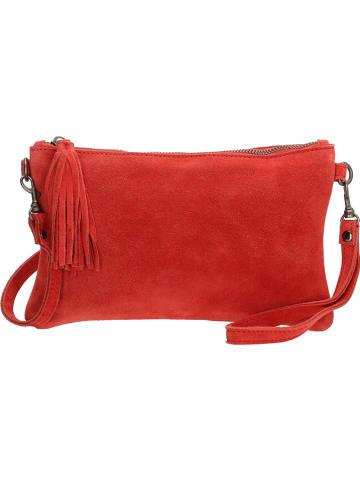Charm Skórzana kopertówka w kolorze czerwonym - 24 x 15 x 2 cm
