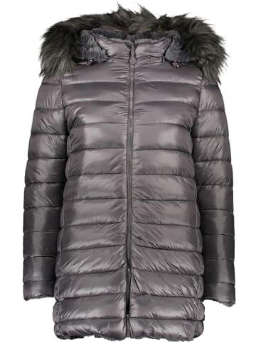 Winter Selection Dwustronny płaszcz przejściowy w kolorze szarym