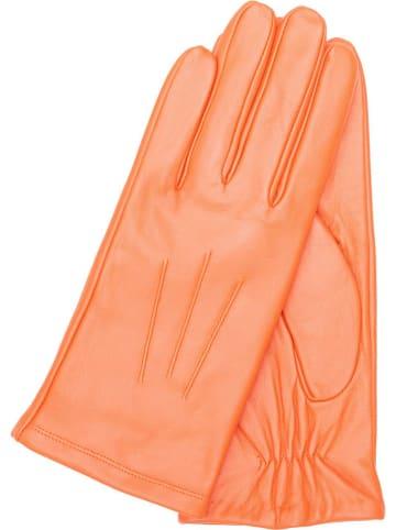 """Gretchen Skórzane rękawiczki """"Lissabon"""" w kolorze pomarańczowym"""