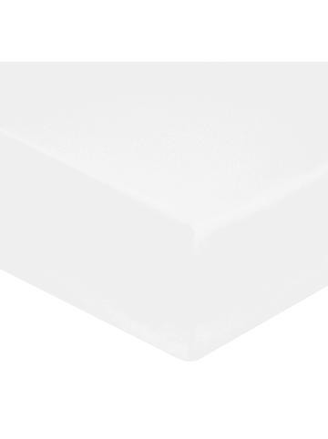 Soft by Perle de Coton Perkal-Spannbettlaken in Weiß