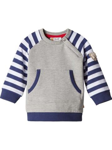 Steiff Sweatshirt grijs/donkerblauw/wit