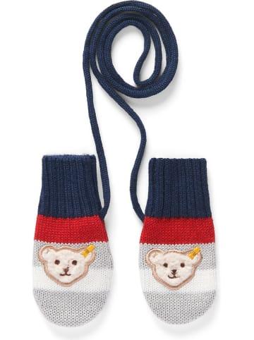 Steiff Rękawiczki w kolorze szaro-czerwono-niebieskim