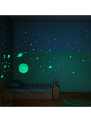 """Ambiance Tatutaż ścienny """"Glow in the Dark - Moon and Stars"""""""
