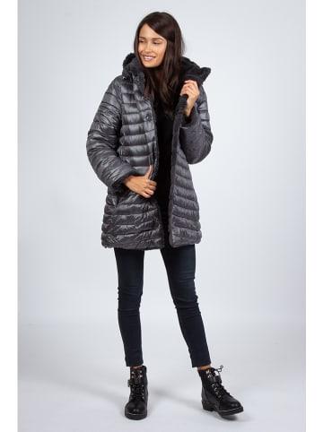 Snowie Collection Płaszcz zimowy w kolorze szarym