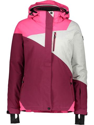 """Killtec Kurtka narciarska """"1"""" w kolorze różowym/jagodowym"""