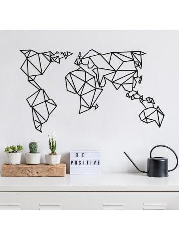 "ABERTO DESIGN Wanddekor ""World Map"" - (B)100 x (H)58 cm"